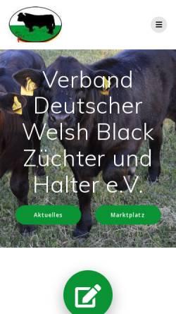 Vorschau der mobilen Webseite welshblack.de, Verband Deutscher Welsh Black Züchter und -Halter