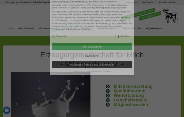 Vorschau von ezg-milchquelle-chemnitz.de, Erzeugergemeinschaft Milch