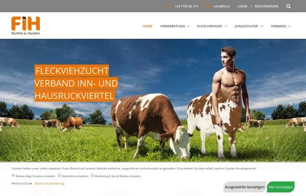 Vorschau von www.fih.at, Erzeugergemeinschaft Fleckviehzuchtverband Inn- und Hausruckviertel