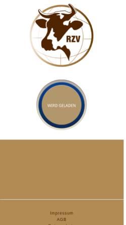 Vorschau der mobilen Webseite www.rzv.at, NatürlichRind - Rinderzuchtverband Vöcklabruck