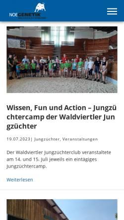Vorschau der mobilen Webseite www.noegenetik.at, Noegenetik - Nö. Genetik Rinderzuchtverband