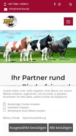 Vorschau der mobilen Webseite www.rind-bw.de, Rinderunion Baden-Württemberg e.V.