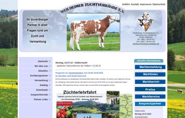 Vorschau von www.zuchtverband-weilheim.de, Weilheimer Zuchtverbände e.V.