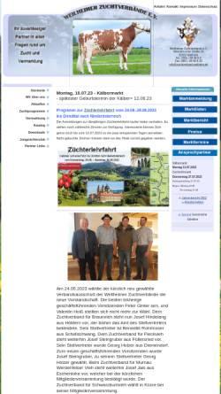 Vorschau der mobilen Webseite www.zuchtverband-weilheim.de, Weilheimer Zuchtverbände e.V.