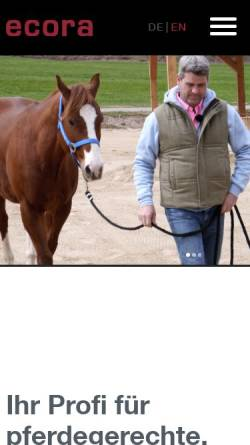Vorschau der mobilen Webseite www.ecora.de, Ecora GmbH
