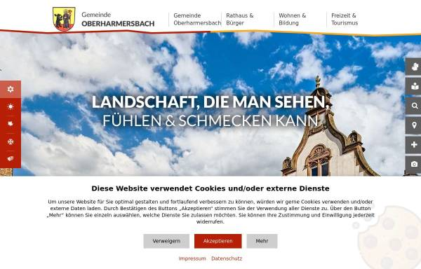 Vorschau von www.oberharmersbach.de, Oberharmersbach