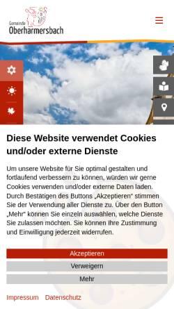 Vorschau der mobilen Webseite www.oberharmersbach.de, Oberharmersbach