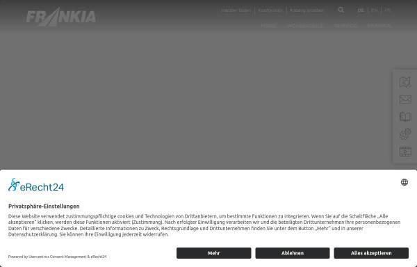 Vorschau von www.frankia.de, Frankia Pilote GmbH & Co. KG