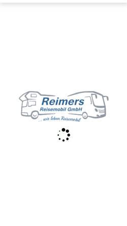 Vorschau der mobilen Webseite www.reimersgmbh.de, Reimers Reisemobil GmbH