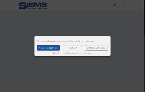 Vorschau von www.siems-fenster.de, Siems fenster+türen GmbH