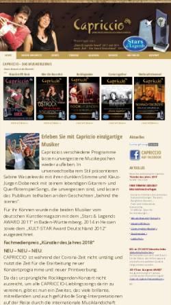 Vorschau der mobilen Webseite www.capriccio-dessau.de, Capriccio Dessau