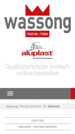 Vorschau der mobilen Webseite www.wassong-fenster.de, Wassong Gmbh Fenster und Türen