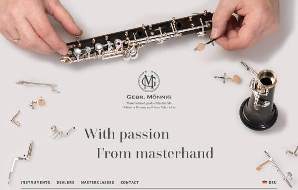 Vorschau von www.moennig-adler.de, Gebr. Mönnig, Oscar Adler & Co.