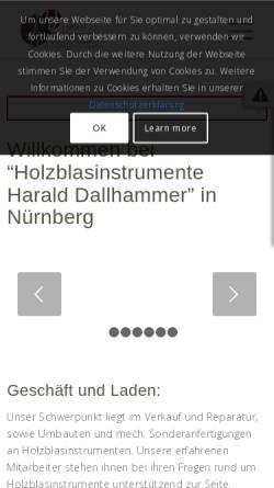 Vorschau der mobilen Webseite www.hd-saxophone.de, HD Saxophone by Harald Dallhammer