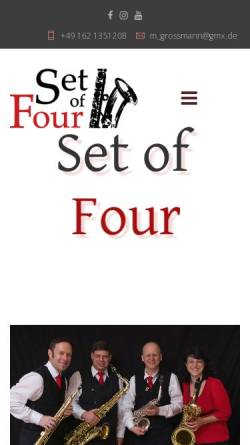 Vorschau der mobilen Webseite www.setoffour.de, Set Of Four, Saxophon-Quartett