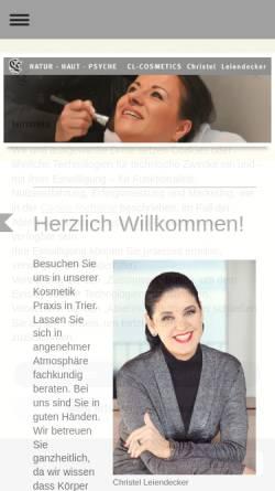 Vorschau der mobilen Webseite www.clcosmetics.de, CL Cosmetics