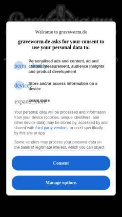 Vorschau der mobilen Webseite www.graveworm.de, Graveworm