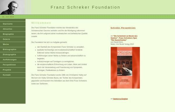 Vorschau von www.schreker.org, Franz Schreker Foundation