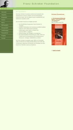 Vorschau der mobilen Webseite www.schreker.org, Franz Schreker Foundation