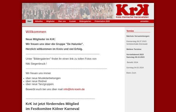 Vorschau von www.krk-koeln.de, Kreis rheinischer Karnevalisten e.V.
