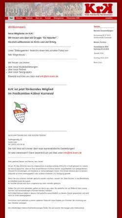 Vorschau der mobilen Webseite www.krk-koeln.de, Kreis rheinischer Karnevalisten e.V.