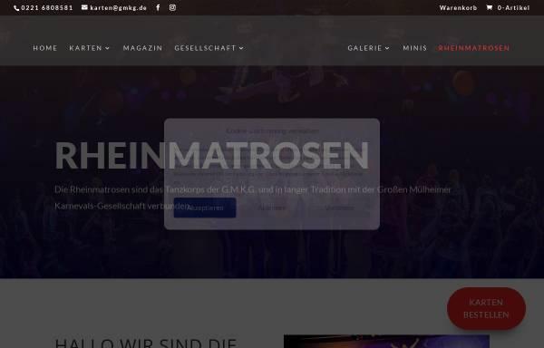 Vorschau von www.rheinmatrosen.de, Tanzcorps Rheinmatrosen - Die Müllemer Scheffer der Großen Mülheimer KG e.V. 1903