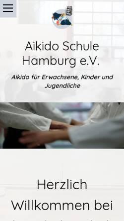 Vorschau der mobilen Webseite www.aikidoschulehamburg.de, Aikido-Schule Hamburg