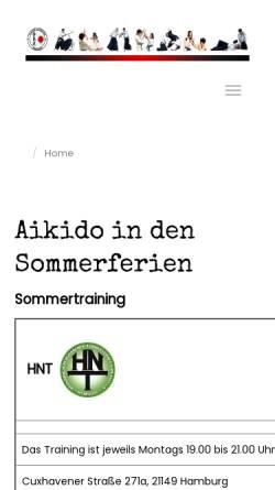 Vorschau der mobilen Webseite aikido-hamburg.de, Aikido-Verband Hamburg e.V.