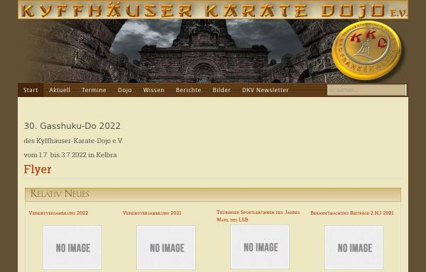 Vorschau von www.kyffhaeuser-karate.de, Kyffhäuser Karate Dojo in Bad Frankenhausen, Kelbra und Gorsleben