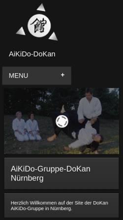Vorschau der mobilen Webseite www.aikido-dokan.de, Aikido Dojo Dokan