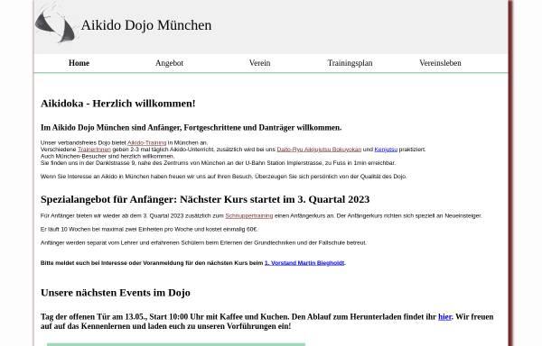 Vorschau von www.aikido-dojo-muenchen.de, Aikido Dojo München e.V.