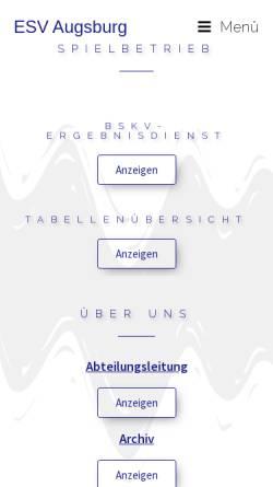 Vorschau der mobilen Webseite esv-augsburg.eu, Aikido ESV Augsburg