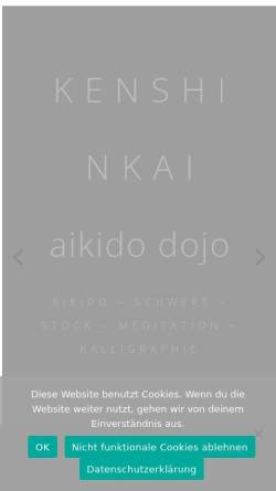 Vorschau der mobilen Webseite aikido-zentrum.de, Ken Shin Kai Aikido Dojo in München