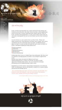 Vorschau der mobilen Webseite www.aikido-kempen-krefeld.de, Aikido Tenshin Dojo Kempen - Krefeld