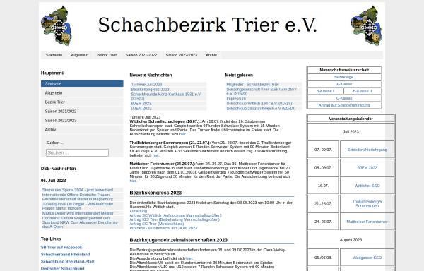 Vorschau von www.schachbezirk-trier.de, Schachbezirk Trier e.V.