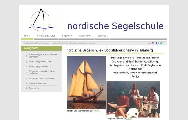 Vorschau von www.nordische-segelschule.de, Nordische Segelschule