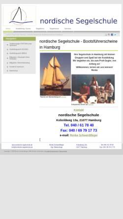 Vorschau der mobilen Webseite www.nordische-segelschule.de, Nordische Segelschule