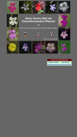 Vorschau der mobilen Webseite www.gluch.info, Oliver Gluchs Welt der Fleischfressenden Pflanzen