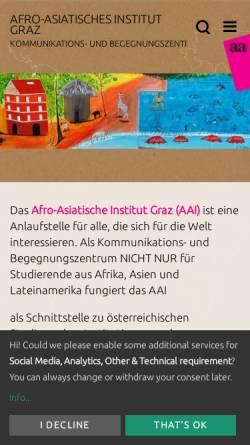 Vorschau der mobilen Webseite www.aai-graz.at, Afro-Asiatisches Institut (AAI) Graz