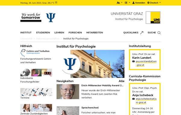 Vorschau von psychologie.uni-graz.at, Institut für Psychologie