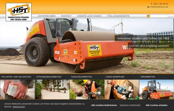 Vorschau von www.hstbremen.de, HST - Hanseatische Straßen- und Tiefbaugesellschaft mbH