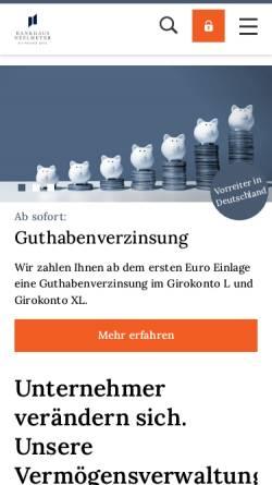 Vorschau der mobilen Webseite neelmeyer.de, Bankhaus Neelmeyer