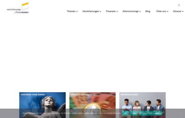 Vorschau von versicherungskontor.net, Versicherungs- und Finanzkontor Friedrichs GmbH
