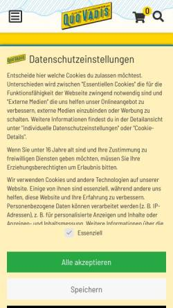 Vorschau der mobilen Webseite www.quovadis-hb.de, Quo Vadis