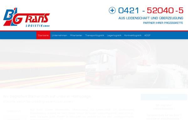 Vorschau von www.bgtrans.de, Bremer Gütertransporte GmbH