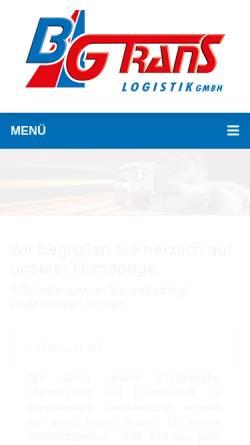 Vorschau der mobilen Webseite www.bgtrans.de, Bremer Gütertransporte GmbH
