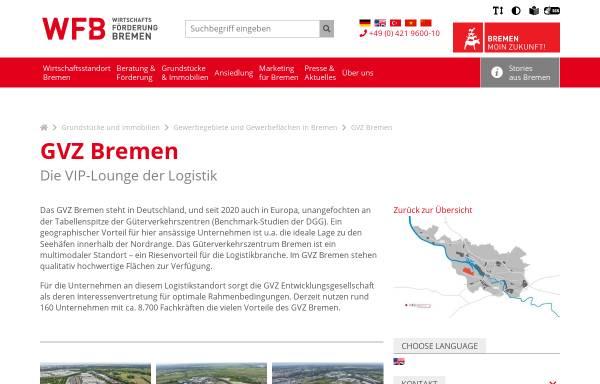 Vorschau von www.gvz-bremen.de, Güterverkehrszentrum Bremen