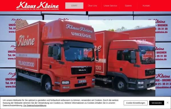 Vorschau von www.umzuege-bremen.de, Klaus Kleine Umzüge