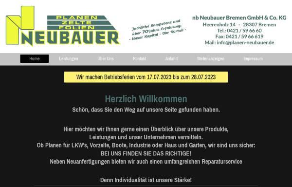 Vorschau von www.planen-neubauer.de, NB Neubauer Bremen GmbH Co. & KG