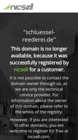 Vorschau der mobilen Webseite schluessel-reederei.de, Schlüssel Reederei
